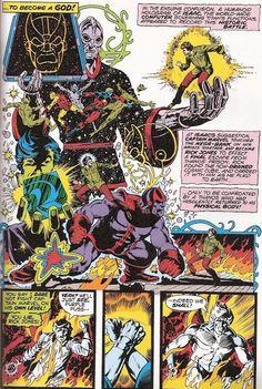 Thanos - Titanic Troubles, Part Captain Marvel 33 Comic Book Superheroes, Comic Book Characters, Comic Books Art, Book Art, Marvel Comics, Marvel Art, Ms Marvel, Jim Starlin, Comic Frame