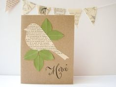 Little French Bird Thank You Note by juliette