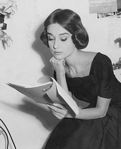Audrey on the set of Love in the Afternoon.   Audrey Hepburn Estate Collection.