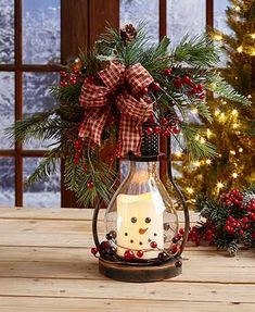 Snowman Triple LED Candle Holiday Light Lantern Country Christmas Home Decor Noel Christmas, Winter Christmas, Christmas Wreaths, Lantern Christmas Decor, Handmade Christmas, Christmas Music, Christmas 2019, Cabin Christmas Decor, Muppets Christmas