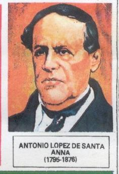 "Antonio de Santa Anna y Pérez de Lebrón (21 February 1794 – 21 June 1876),[1] often known as Santa Anna[2] or López de Santa Anna and sometimes called ""the Napoleon of Mexico"", was a Mexican dictator, general, and eleven-time president who greatly influenced early Mexican politics and government. Santa Anna fought first against Mexican independence from Spain, then in support of it. Though not the first caudillo (military leader) of Mexico, he was among the earliest."