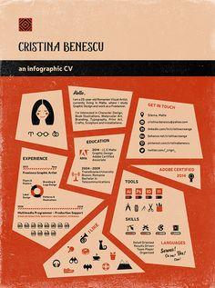 Cristina Benescu [an infographic CV] on Behance