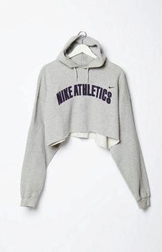 Retro Gold Vintage Nike Cropped Fleece Hoodie Sweatshirt at PacSun.com  9d09b9987