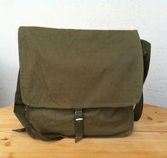School bag military canvas messenger bag vintage by Minterest