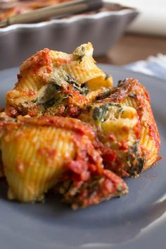 Spinach Ricotta, Stuffed Pasta Shells, Greek Recipes, Quiche, Food And Drink, Dinner, Breakfast, Dining, Morning Coffee