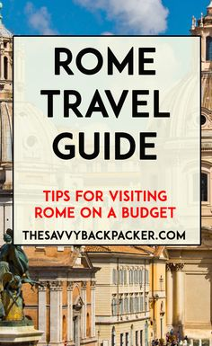 Rome is a mix of new and old, it has continued to awe visitors for thousands of years. This Rome travel guide will help you plan your visit on a budget. Travel News, Travel Advice, Travel Guides, Budget Travel, Travel Icon, Travel Hacks, European Vacation, European Travel, Rome Travel