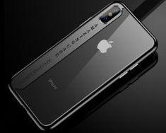 Silikónový transparentný kryt pre iPhone X s čiernymi okrajmi. Mobiles, Apple Iphone, Mobile Phones