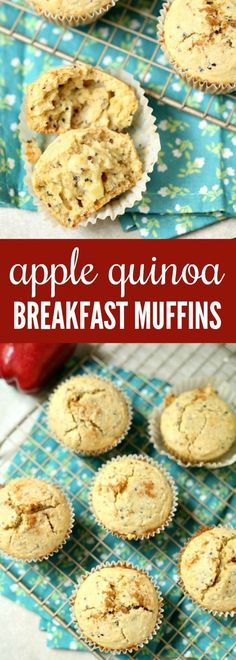 Do you need a quick breakfast recipe for those busy mornings? These Apple Quinoa Breakfast Muffins are tasty and perfect to eat when you're on the go. @SuccessRice AD