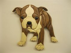 BOSTON TERRIER, HAND INTARSIA CARVED BY RAKOWOOD, CARVED WOODEN WALL ART, WALL DECOR, great as a gift for any occasion. ready to hang measuring 11.5 x 11.5 inches. carved from 65 pieces of exotic woods, no stain, all natural & finished with three hand rubbed coats of polyurethane satin