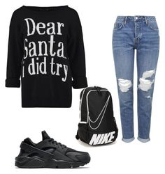 """Done"" by fashion13queen on Polyvore featuring Topshop and NIKE"