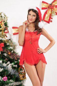 Kerst kostuum ( sexy woord stropdas kerstmuts kleding )