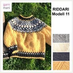 Norwegian Knitting, Sweater Knitting Patterns, Knit Jacket, Knit Crochet, Pullover, Sweaters, Jackets, Black, Style