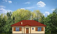 Projekt domu Jak marzenie 88,53 m2 - koszt budowy 83 tys. zł - EXTRADOM Home Fashion, Shed, Outdoor Structures, Cabin, Mansions, House Styles, Home Decor, Mansion Houses, Homemade Home Decor