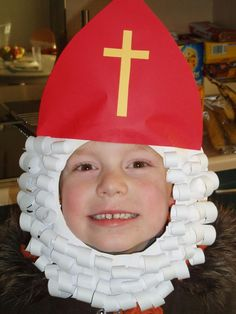 (po)tvoríme s deťúchmi Saint Nicolas Christmas Hearts, Kids Christmas, St Nicholas Day, All Saints Day, Mask For Kids, Winter Kids, Kids Corner, Diy Crafts For Kids, Nursery Crafts