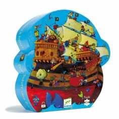 Djeco Barbarossa's Galleon Boat Pirate Ship Children's Jigsaw Puzzle Age 5 for sale online Puzzle Djeco, Bateau Pirate, Sword Fight, Mighty Ape, Childrens Gifts, Pirate Theme, Puzzles For Kids, Toys Shop, Cool Toys