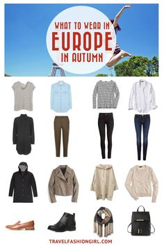 Are you traveling to Europe in Autumn? Use this comprehensive packing list to pick the right clothes for your trip to Paris, Rome, Budapest, London and more! | travelfashiongirl.com