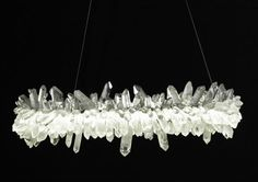 How A MidCentury Chandelier Can Elevate Your Living Room Decor - Quartz chandelier crystals
