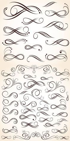 Ornate swirls vector for tattoos