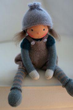 Waldorf knitted doll Caroline 13 by Peperuda by danielapetrova