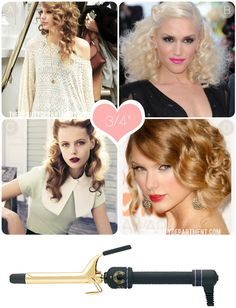 What Does Each Curling Iron Do? 3/4 in, 1, 1 1/4 in, 1 1/2 in and 2 in.