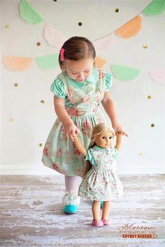 Matching Girl and Doll Dress Sewing Patterns. ELIZABETH & EDEN DOLLY ENSEMBLE PDF PATTERN SET