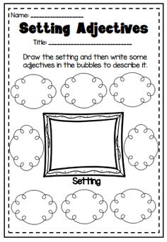 Guided Reading Printable Worksheet Pack. Great for Literacy Centers. Setting, character, plot etc.