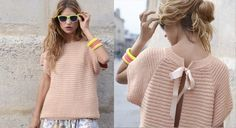 In love with this tricot Knitting Patterns Free, Knit Patterns, Free Knitting, Free Crochet, Knit Crochet, Summer Knitting, Knitwear Fashion, Diy Clothes, Point Mousse