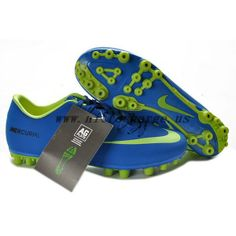 2012/2013 CR9 Nike Mercurial Vapor 9 AG Boots Blue/Green