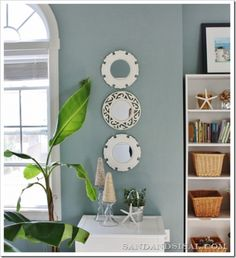 Coastal Decor Done Right - Atmospheric Color Palette pinned for the paint color scheme