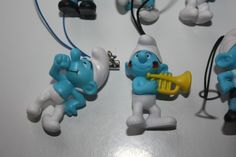 Selection of 9 3D Smurf Charm Figures Paper Schtroumpfe Schlumpfe Puffi | eBay