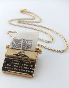 Quirky, unusual and fun. Typewriter necklace