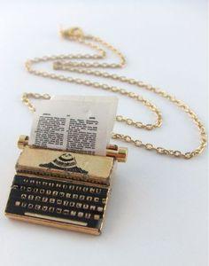 Typewriter necklace :-)