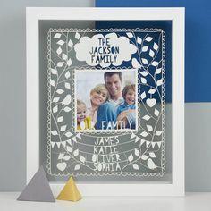 Personalised Instagram Family Photo Papercut