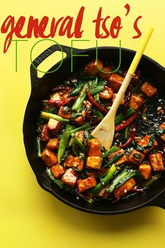 AMAZING General Tso's Tofu in 30 minutes! Spicy, sweet, protein rich! #vegan #plantbased #glutenfree #minimalistbaker #recipe