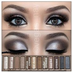 This Is Why I Love the Naked Palette ❤ liked on Polyvore featuring eyes and makeup