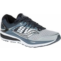 New! Men's Saucony Triumph ISO 2 neutral cushion shoe shown in Grey/White/Silver