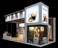 STAND 3CORAÇÕES_SIC on Behance Cafe Shop Design, Kiosk Design, Retail Design, Container Restaurant, Container Cafe, Trade Show Design, Stand Design, Exhibition Stall Design, Exhibition Stands