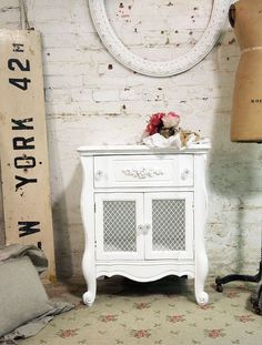 Painted Cottage Chic Shabby White Romantic by paintedcottages, $175.00