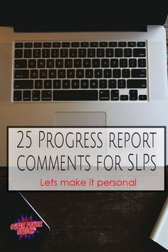 Progress Report Comments for SLP. Everybody needs ideas for making progress reports more personal! Show parents and students that you really know and care about them! Speech Language Therapy, Speech Language Pathology, Speech And Language, Report Card Comments, Speech Therapy Activities, Articulation Activities, Language Activities, Listening Activities, Play Activity