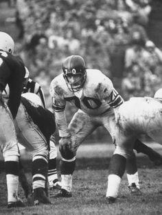 Sam Huff - WVU (1952-55), New York Giants (1956-63), Washington Redskins (1964-68, 1969)