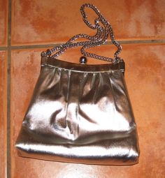 Formal Silver Evening Bag Purse by ShabbyBuyDesign on Etsy, $15.00