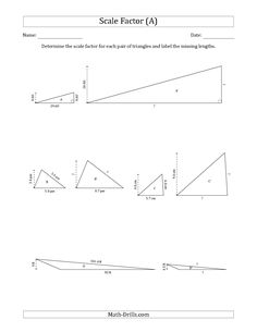 The Calculate A Side Measurement Using Pythagorean Theorem A
