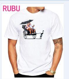 2017 RUBU Gap mellan rika och herrtröjor Tops Hip Hop-män Kortärmad O-Neck  Bomull-Match-T-shirt Casual T-shirts fhjftg 27e3fdb41da2f
