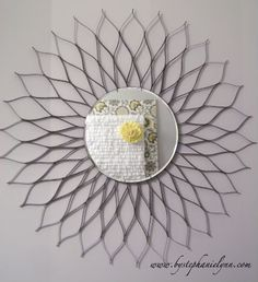 mandala de papelão pra enfeite de parede.