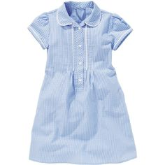 Buy Gingham Dress (3-14yrs) from the Next UK online shop (197.445 VND) ❤ liked on Polyvore featuring dresses, gingham print dress, blue gingham dress, blue dress and gingham dress
