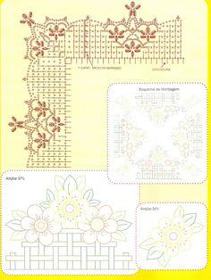crochet - bicos/barrados com cantos - corners - Raissa Tavares - Picasa Web Albums