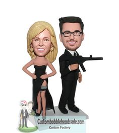 custom bobblehead Mr And Mrs Smith