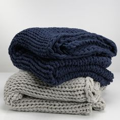 knit blankets - thick chunky
