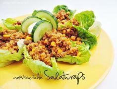 mexican wraps | mexikanische Salatwraps mit Hackfleisch und Couscous