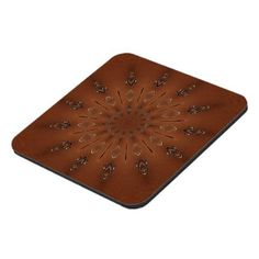Tribal Inspired Woodgrain Spear Shield Pattern Coaster - wood gifts ideas diy cyo natural